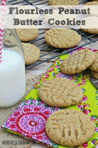 Flourless Gluten Free Peanut Butter Cookies
