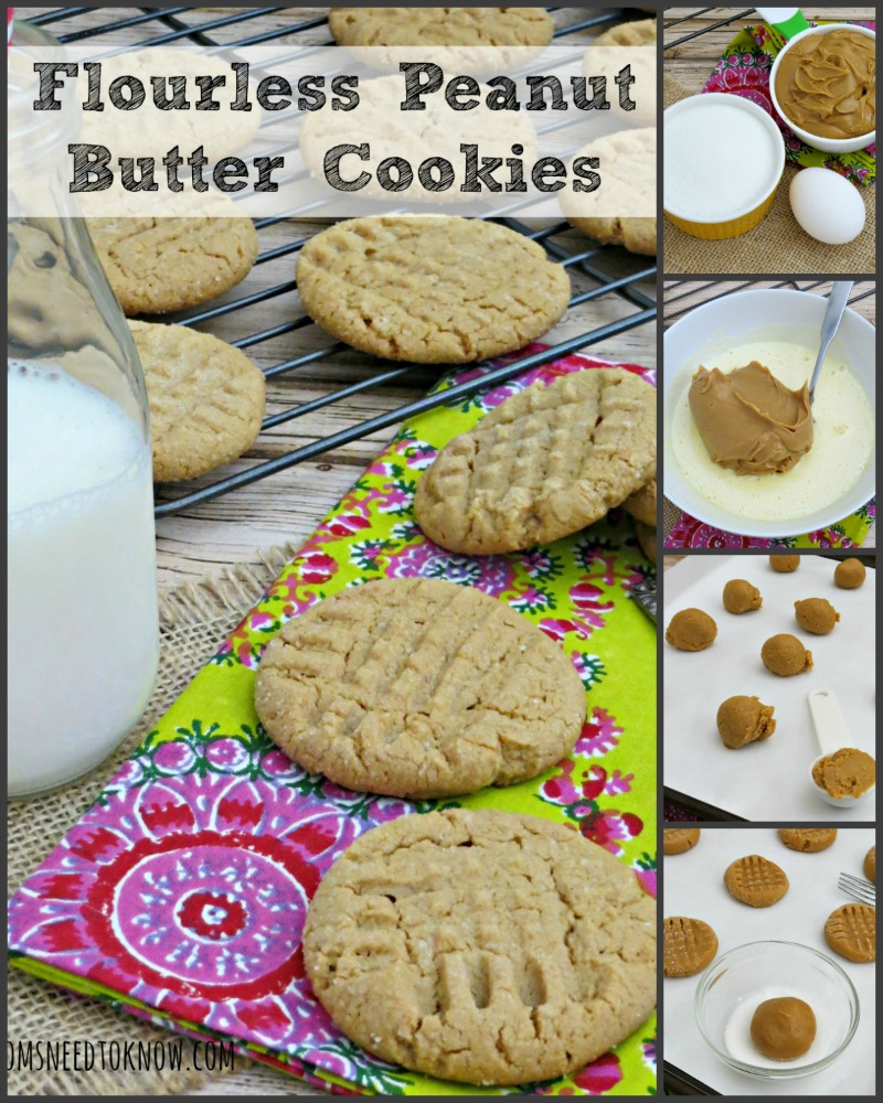 Flourless Gluten Free Peanut Butter Cookies collage