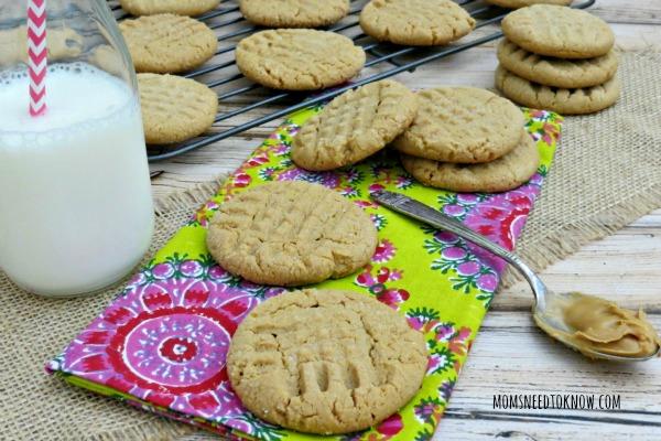 Flourless Gluten Free Peanut Butter Cookies myf