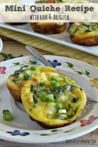 Mini Quiche with Ham and Arugula