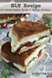 BLT with Sundried Tomatoes, Mozzarella, Parmesan, and Arugula