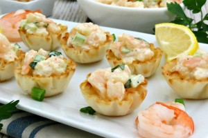 Cold Shrimp Dip in Phyllo Cups myf