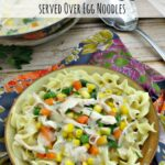 This creamy chicken and vegetables dish is made without the use of processed canned soup. It's absolutely delicious and made with real foods!
