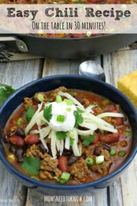 Easy Chili Recipe | Just 30 Minutes To The Table!