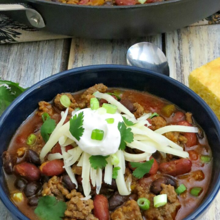 I love a good slow-cooked chili, but sometimes you just want an easy chili recipe that is full of flavor and can be on the table in just a half hour!