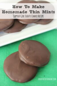 How To Make Homemade Thin Mints | Copycat Girl Scout Cookies