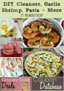 DIY Cleaners, Garlic Shrimp, Pasta Recipes and More | It's The Weekly Recap!