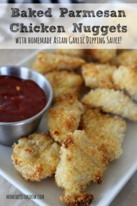 Baked Parmesan Chicken Nuggets with Asian Dipping Sauce