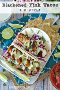 Blackened Fish Tacos with Cilantro Slaw