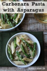 Carbonara Pasta with Asparagus Recipe