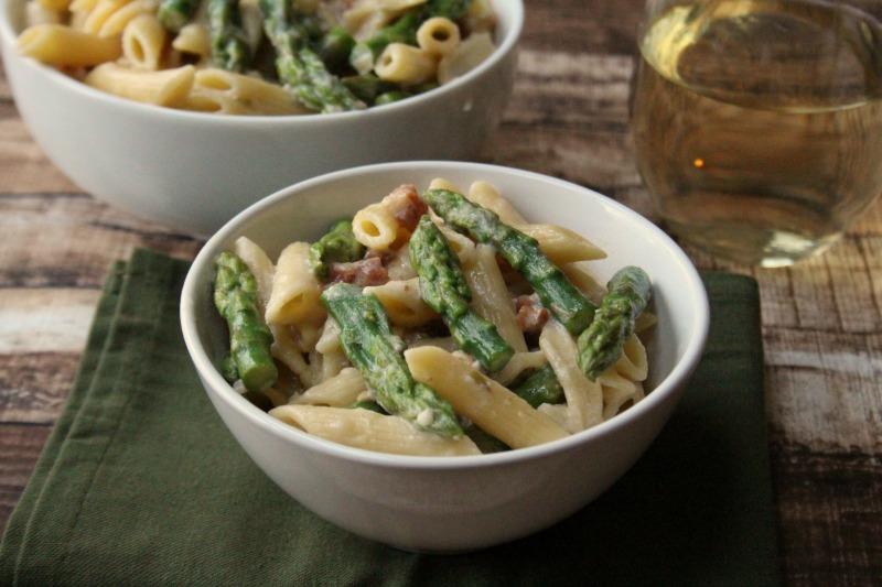 Carbonara Pasta with Asparagus Recipe h