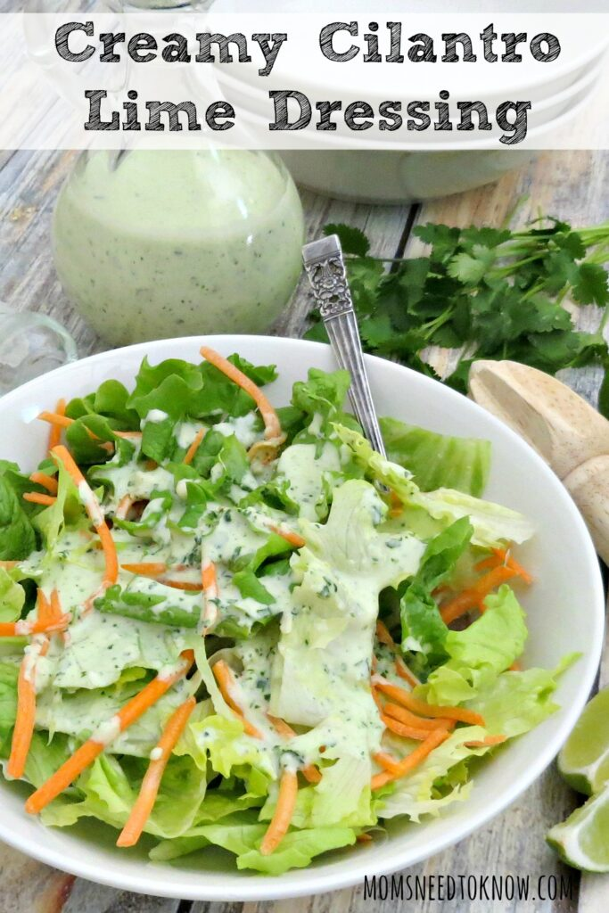 Creamy Cilantro Lime Dressing | Moms Need To Know ™