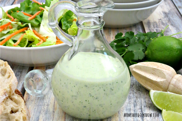 You are going to need to make a batch of my creamy cilantro lime dressing to use as the sauce for your fish tacos!