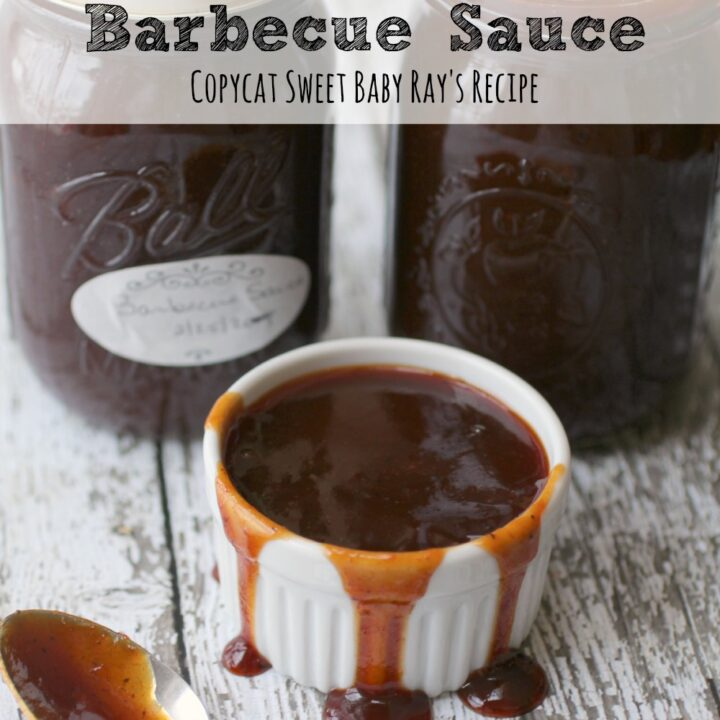 This homemade barbecue sauce is easy to make and preserve. A copycat version of Sweet Baby Ray's, your family will love it!
