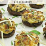 Whether you serve them as an appetizer or as a main meal, these sausage stuffed mushrooms are sure to be a hit! Ricotta cheese gives the filling added creaminess