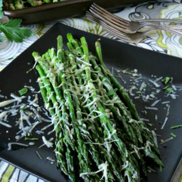 This baked asparagus with Parmesan is so simple and allows the flavors to just shine. The perfect side dish any night of the week!