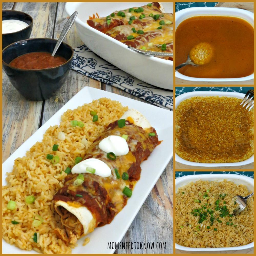 Easy Spanish Rice Recipe collage