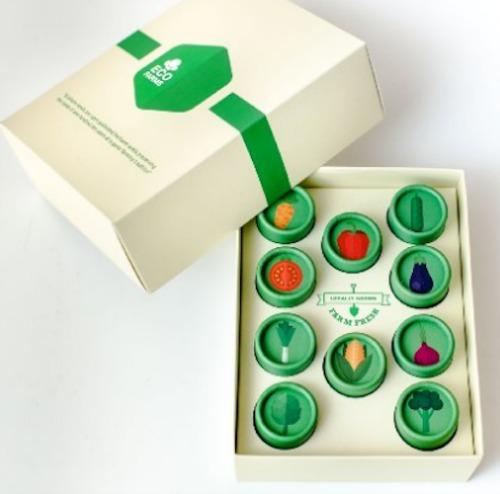 EcoFarms Organic Vegetable Heirloom Seeds Kit