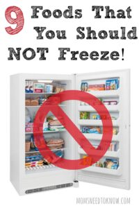 9 Foods That You Should Not Freeze