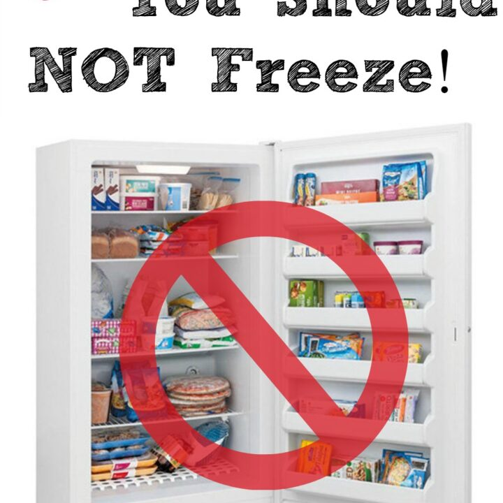 A freezer can be a great way to stock up on foods when they are cheap and then save them for later. But there are just some foods that you should NOT freeze