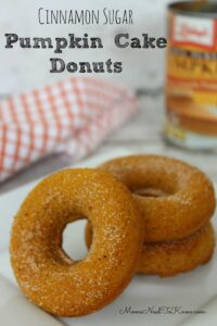 Pumpkin Cake Donuts with Cinnamon and Sugar