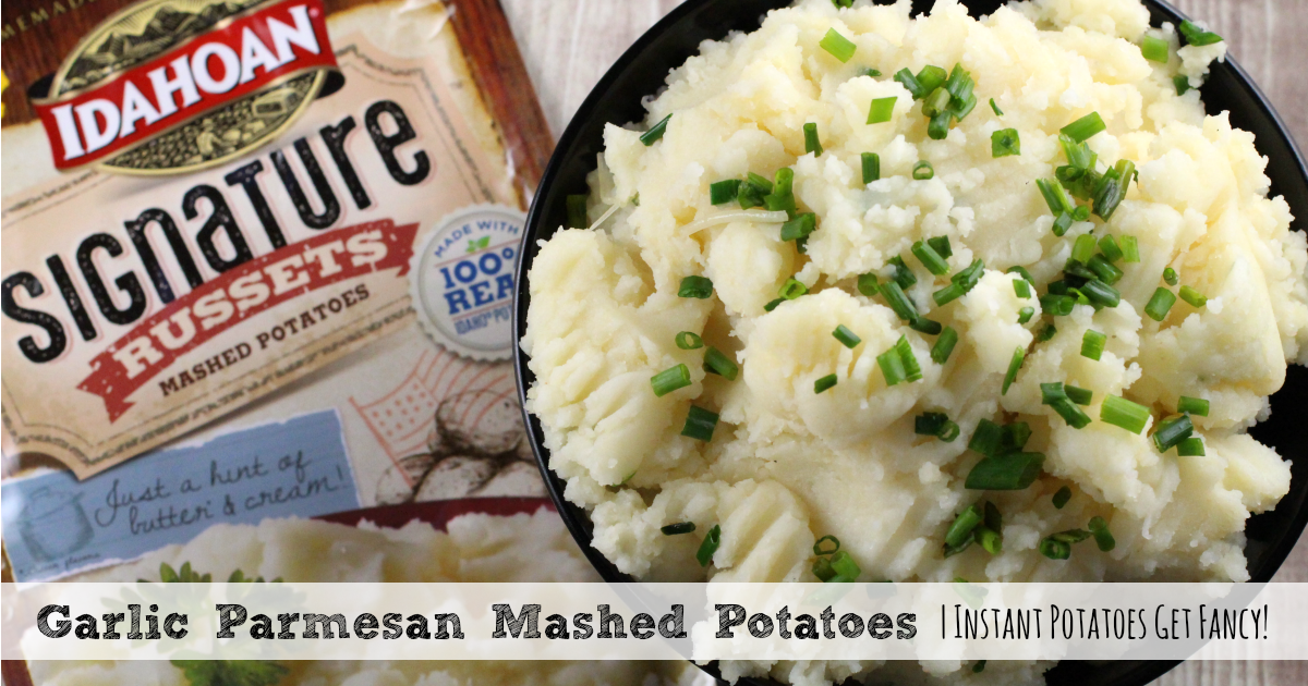 Garlic Parmesan Mashed Potatoes | Instant Potatoes Get Fancy!
