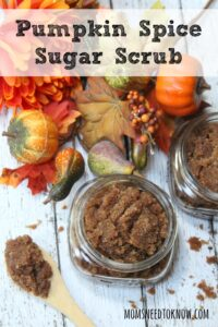 Just 4 ingredients are needed to make this fabulous pumpkin sugar scrub. This scrub will polish and moisturize your skin - and with a wonderful scent!