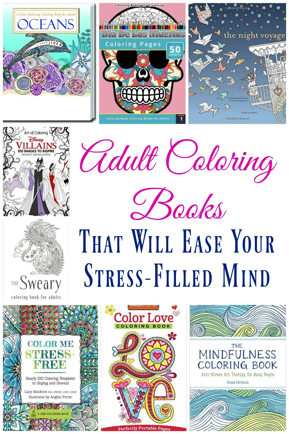 Coloring isn't just for children any longer! Coloring can be a great way to relieve stress and these adult coloring books are a nice change of pace!