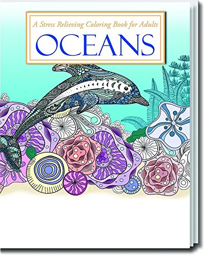 Oceans, Stress Relieving Coloring Book for Adults