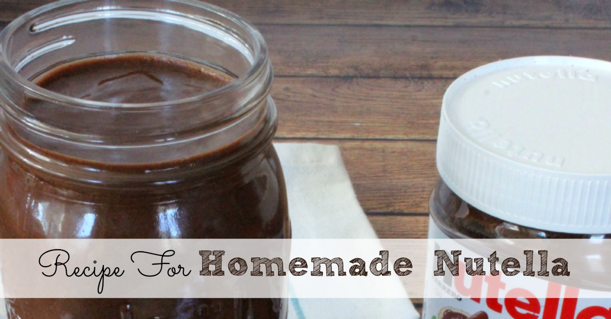 Homemade Nutella Recipe | Moms Need To Know ™