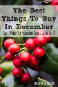 The Best Things To Buy In December