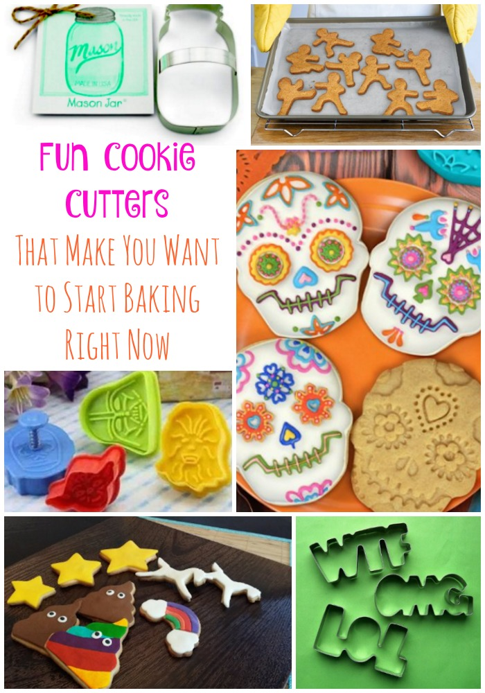 I love making cookies with my children and they love these fun cookie cutters! Why stick with boring circles when you can have Star Wars, unicorns & Ninjas?