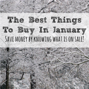 The Best Things To Buy In January