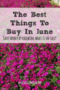 Saving money can be all about timing and June always has better deals on some things than others. Here are the best things to buy in June!
