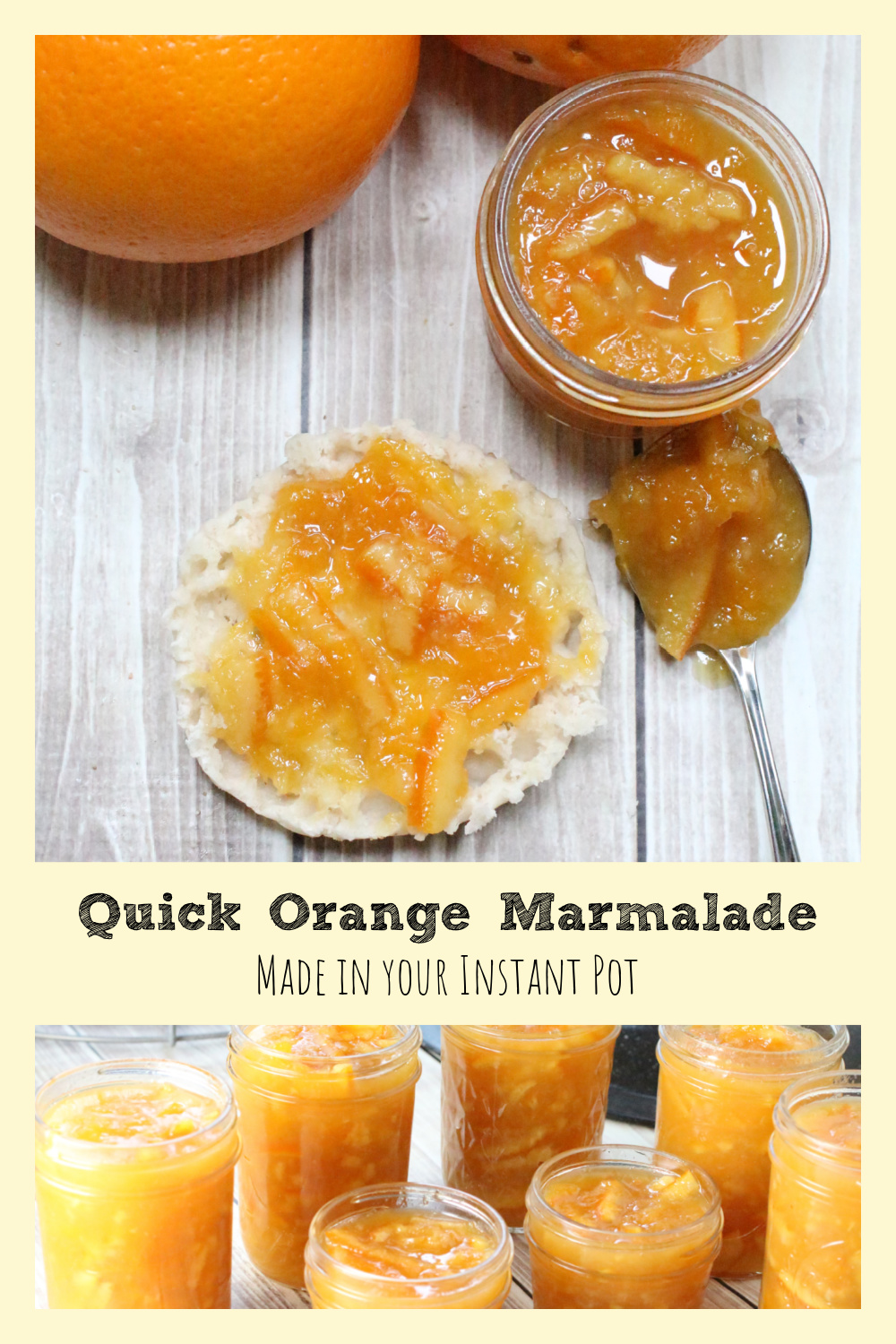 Easy Orange Marmalade Recipe made in a Pressure Cooker or Instant Pot