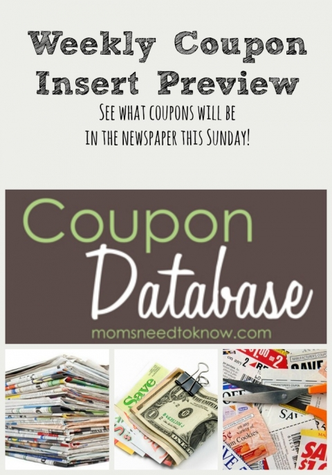 Sunday Coupon Insert Schedule | Sunday Paper Coupons